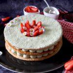 Recette gourmande : millefeuille aux fraises et au thé matcha