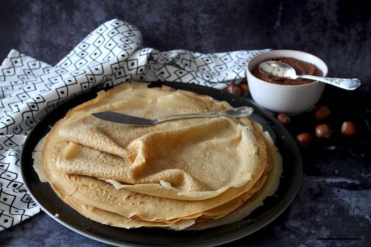 Recette sans gluten ni lactose : pâte à crêpes
